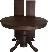 "SOLD Victorian Mahogany Claw Foot 48"" Dining Table – 8 Feet Long"