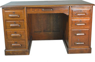 SOLD Oak Lawyers Flat Top Desk