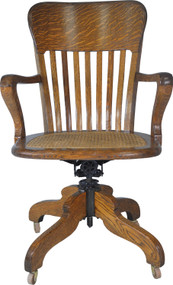 SOLD Victorian Oak Lawyers Office Swivel Chair
