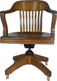 SOLD Tiger Oak Lawyers Banker Office Chair