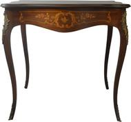 17621 Victorian Mahogany Heavily Inlaid Parlor Stand