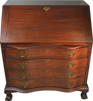SOLD Mahogany Governor Winthrop Desk with Ball and Claw Feet