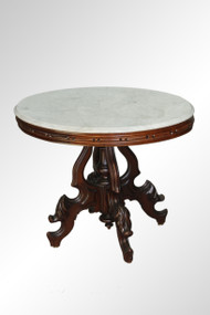SOLD Antique Large Oval Marble Top Table by Thomas Brooks