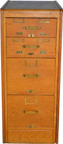 17668 Oak Library Bureau of Congress Small File Cabinet