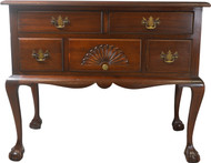 17671 Mahogany Chippendale Ball and Claw Lowboy