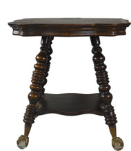 17675 Mahogany Large Glass Ball and Claw Stand