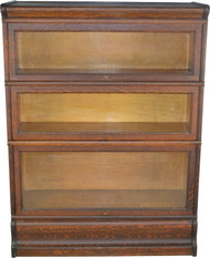 17696 Oak Three Section Bookcase
