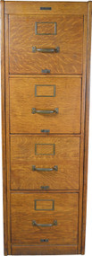 SOLD Oak Four Drawer File Cabinet Macy