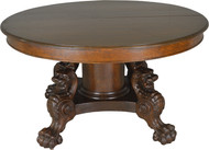 "17677 Victorian Oak Lion Body Base 54"" Dining Table – Horner Style"