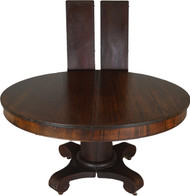 SOLD Mahogany 54 Inch Empire Dining Table w/2 Leaves