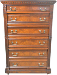 SOLD Victorian Lock Side Chest – 6 Drawers