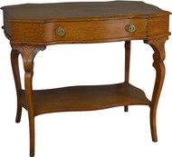 17667 Shapely Victorian Oak Writing Ladies Desk / Library Table