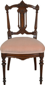 SOLD Victorian Walnut with Burl Dainty Ladies Desk Chair