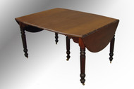 SOLD Antique Country Victorian Walnut Drop Leaf Dining Table