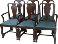 17733 Set of 6 Mahogany Empire Dining Chairs – Twin Arms