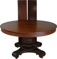 SOLD Mahogany 54 inch Empire Fluted Pedestal Banquet Table