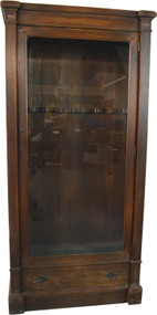 19809 Oak Glass Door Gun Cabinet