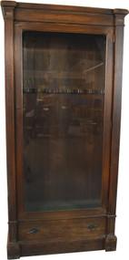 SOLD Oak Glass Door Gun Cabinet
