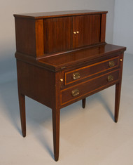 SOLD Antique Mahogany Federal Tambour Writing Desk