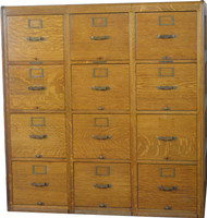 SOLD Twelve Drawer Oak File Cabinet by Library Bureau of Congress