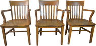 19814 Set of 3 Oak Conference Chairs