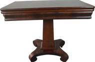 19817 Flame Mahogany Empire Civil War Era Game Table