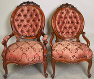19853 Victorian Ladies and Gentleman Arm Chairs – Civil War Era
