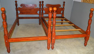 17626 Pair of Twin Cannon Ball Early Beds