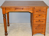 SOLD Oak Ladies Child's Flat Top Desk