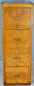 17777 Oak Lawyers File Cabinet by Library Bureau Maker