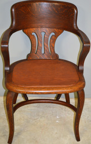 SOLD Victorian Lawyers Bankers Arm Chair