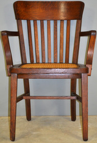 SOLD Oak Lawyers Bankers Office Arm Chair