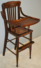 SOLD Oak Children's High Chair – 1900's