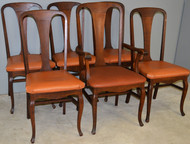 17798 Oak Stylish Set of 6 Dining Chairs