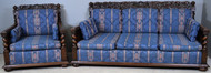 17805 Antique Cupid Carved Barley Twist Sofa Set