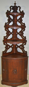 17833 Unusual Victorian Corner What Not Cabinet