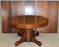 17434 Victorian Round Walnut Banquet Table 12 Feet Long!!
