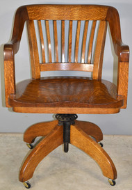 SOLD Oak Lawyers Tiger Oak Office Chair