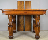SOLD Victorian Tiger Sawn  Square Dining Table