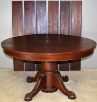 17825 Victorian Mahogany Ball & Claw Banquet Table – 103 Inches Long