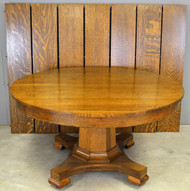 19555 Victorian Oak Banquet Table – Opens Over 10 Feet