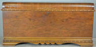 SOLD Art Deco Burl Walnut Cedar Chest by Lane