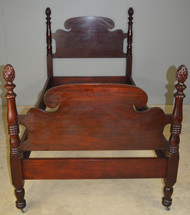 SOLD Mahogany Twin Pineapple Poster Bed