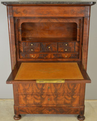 SOLD Biedermeier Flame Mahogany Abante Marble Top Chest