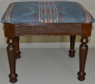 17852 Carved Walnut Footstool – FREE SHIPPING