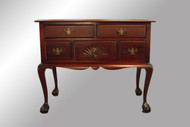 SOLD Antique Mahogany Chippendale Ball and Claw Lowboy