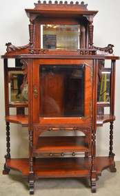 19852 Victorian Cherry Display Cabinet / Etagere