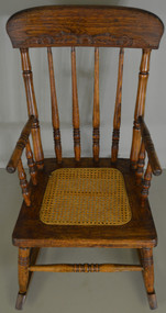 17823 Victorian Oak Press Back Children's Rocker – FREE SHIPPING