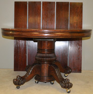 SOLD Victorian Carved Oak Banquet Table Claw Feet by Hastings – 5 Leaves
