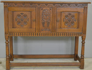 SOLD Carved Oak Server / Flat Screen TV Stand